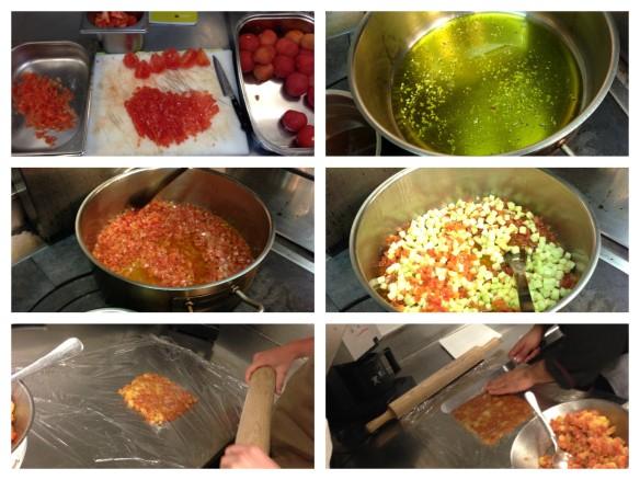 Tomato Carpaccio Prep